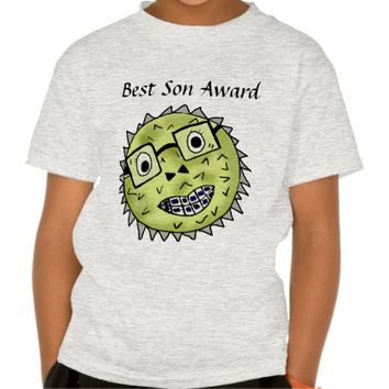 Funny blow fish best son award t-shirts