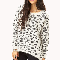 Cozy Spotted Shag Sweater