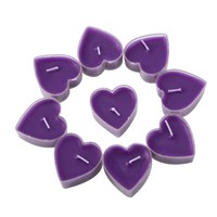 Heart Tealight Candles - 6 colors!