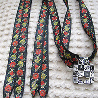 Premium Ed Hardy Life Love Red Yellow Roses Rockabilly Punk Shoe laces Shoelaces