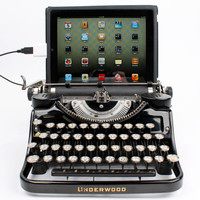 SOLD OUT -- USB Typewriter Computer Keyboard -- Black Underwood Model F w/ Glass Keys