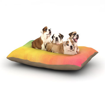 "Fotios Pavlopoulos ""Watercolor Layers"" Rainbow Dog Bed"