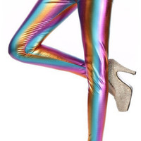 Gradient Metal Leggings Design 69