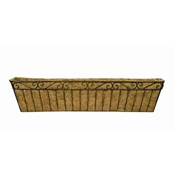 SheilaShrubs.com: Large Imperial Metal Window Box with Coco Liner WB118 by Deer Park Ironworks: Planters