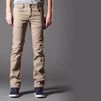 [True Grit] Slim Jeans in Taupe