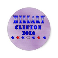 Hillary Clinton 2016 Round Sticker