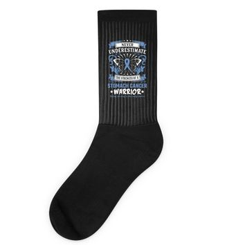 Never Underestimate the Strength of a Stomach Cancer Warrior Socks