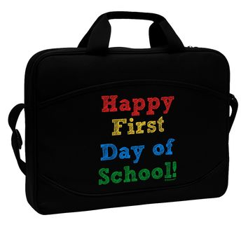"""Happy First Day of School 15"""" Dark Laptop / Tablet Case Bag by TooLoud"""