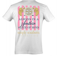 Simply Southern State of Mind Tee - White