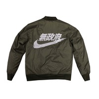 Anarchist Bomber Jacket in Olive