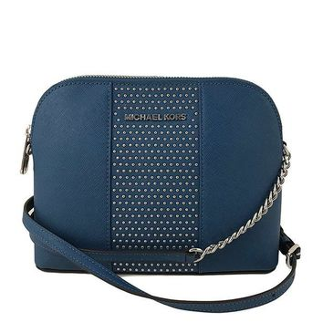 ONETOW Michael Kors Micro Stud Cindy LG Dome Crossbody Bag