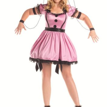 Party King Female Plus Size Pink Marionette Costume PK281XL