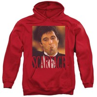 ac spbest Scarface - Smoking Cigar Adult Pull Over Hoodie