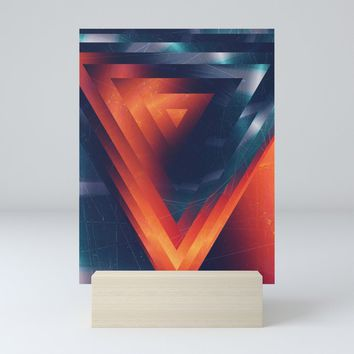 Triangled Mini Art Print by duckyb