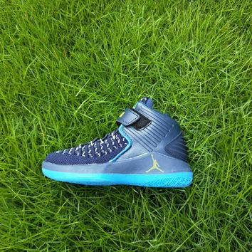 Kids Air Jordan 32 Retro Blue Sneaker Shoe Size US 11C-3Y