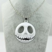 The Nightmare Before Christmas Jack Skellington Necklace Pendant White