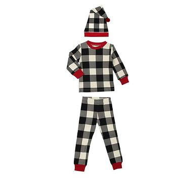 Organic Kids Long Sleeve Holiday PJ & Cap Set by L'oved Baby