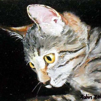 "Painting, Custom Pet Portrait, Cat Portrait Painting, Custom Cat Art,  Oils on Canvas. 8"" x 10"" size"