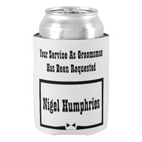 Best Man or Groomsman Invite Can Cooler