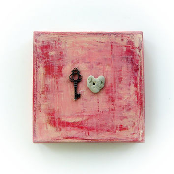Unique Love Gift for him - the key to my heart - the Mini version