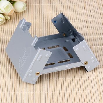 Lightweight Portable Folding Camping Stove For Solid or Alcohol Fuel