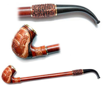 Wooden pipe, Tobacco Pipe, Collection Smoking Pipes. Long Pipe. Wooden Handmade. Wood Pipe - SHIP