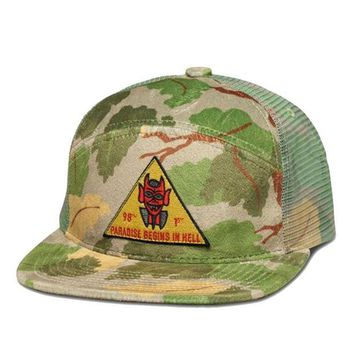 ONETOW Diamond Supply Co. - Paradise 7 Panel Snapback - Olive Camo - One Size