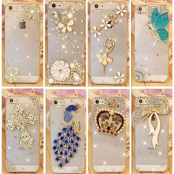 Rhinestone Case Cover For Apple Iphone