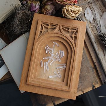 Wooden Gothic Carved Plate
