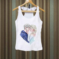Jack and Elsa frozen Men,Women Tank