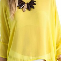 oversized chiffon top $23.00 in BLACK DKCORAL LIME ROYAL TURQUOISE - New Tops | GoJane.com