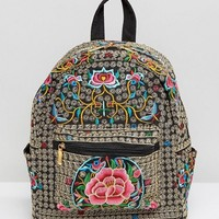 Reclaimed Vintage Ornate Embroidered Backpack at asos.com