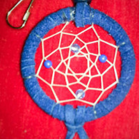 Purple Dreamcatcher Keychain Charm