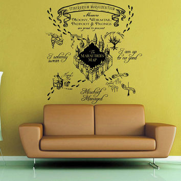Marauder's Map Wall Decal