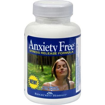 RidgeCrest Herbals Anxiety Free Stress Relief Formula - 60 Vegetarian Capsules