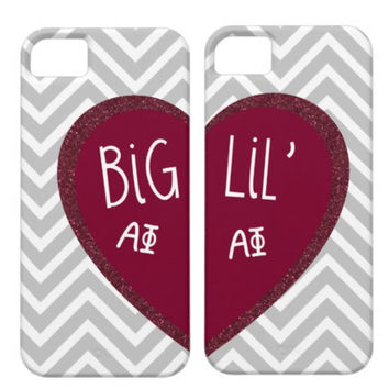Alpha Phi Big & Lil Matching Phone Cases by AlyssaCreates on Etsy