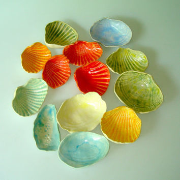 Seashell Favor Collection  create your own custom by Clayshapes