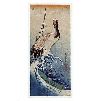 Nami_ni_Tsuru FINE ART painting poster 24X36 refined GREAT FOR WALL DECOR