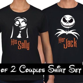 Disney Jack and Sally Matching couples shirts or Hoodies