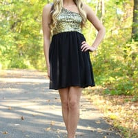 City Sparkle Dress - Gold