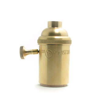 Brass Copper Bulb Keyed Switch Holder