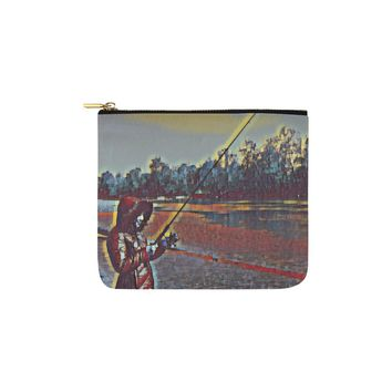 Levi Thang Fishing Design 13 Carry-All Pouch 6''x5''