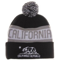 Absolute Accessory California Republic Bear Cuff Pom Pom Beanie Cable Knit Hat Cap