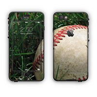 The Grunge Worn Baseball Apple iPhone 6 LifeProof Nuud Case Skin Set