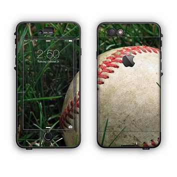 The Grunge Worn Baseball Apple iPhone 6 Plus LifeProof Nuud Case Skin Set