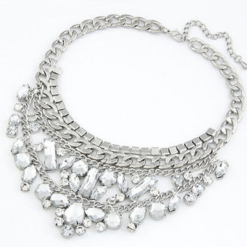 Shiny Gift Jewelry New Arrival Vintage Alloy Stylish Fashion Water Droplets Sweater Chain Necklace [6573103175]