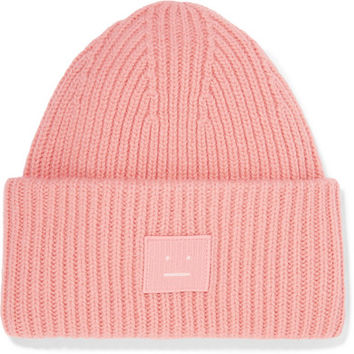 Acne Studios - Pansy appliquéd ribbed wool beanie