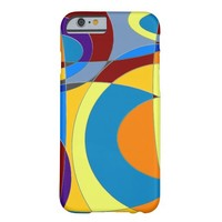 Retro Colorful Abstract Barely There iPhone 6 Case