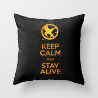 74th Hunger Games Throw Pillow by Luke Eckstein | Society6