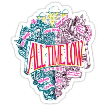 All Time Low Nothing Personal Logo T Shirt/Sticker